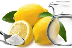limón y bicarbonato para blanqueamiento
